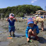 潮干狩りvsマテ貝
